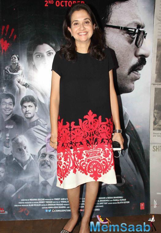 Anupama Chopra Photographed At The Film Talvar's Screening