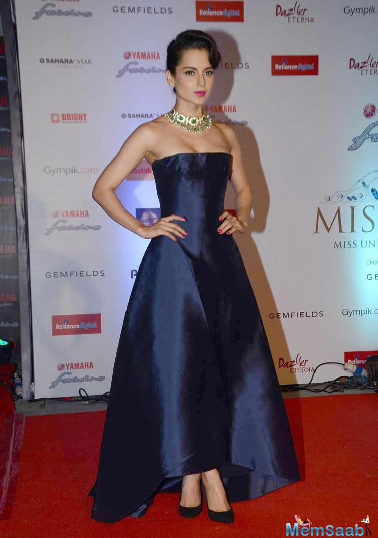 Beautiful Kangana Ranaut The Special Guest For Miss Diva 2015 Finale