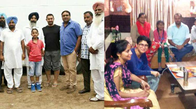Aamir And Kiran Spend Time With Punjab Villagers During Dangal Shoot
