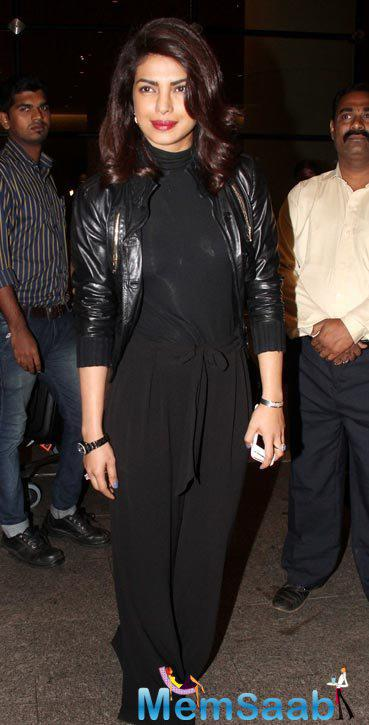 Priyanka Chopra Visits India For Bajirao Mastani Promotions