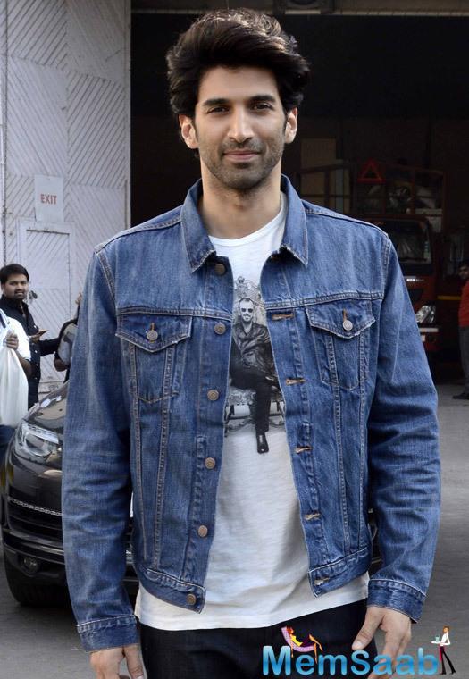 Aditya Roy Kapur Seen in usual casual look Wearing John Varvatos tee and Gap denim jacket