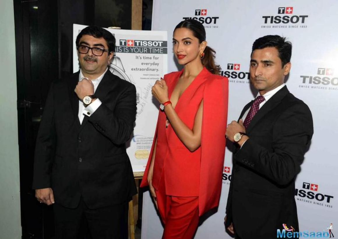 Deepika Padukone Launched Tissot's New Collection In Delhi