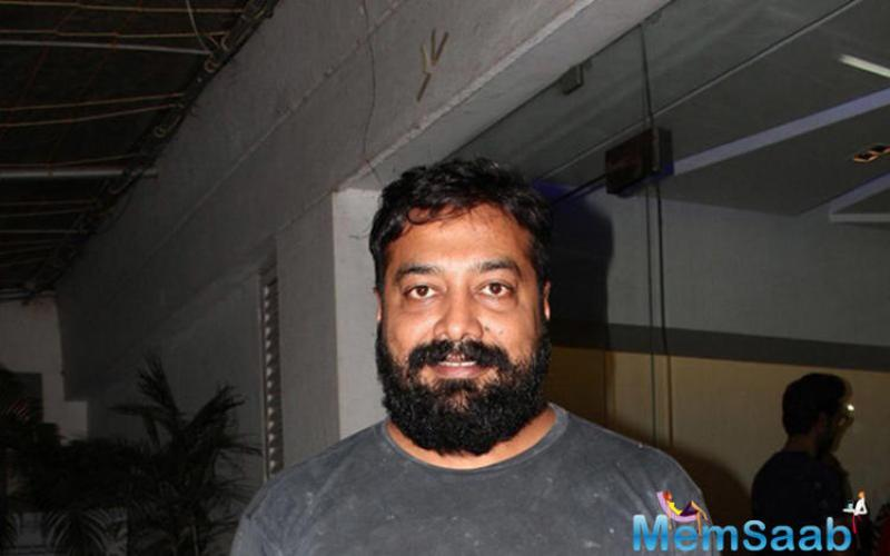 Director Anurag Kashyap gave an appearance with his bearded avatar at the screening of Aligarh