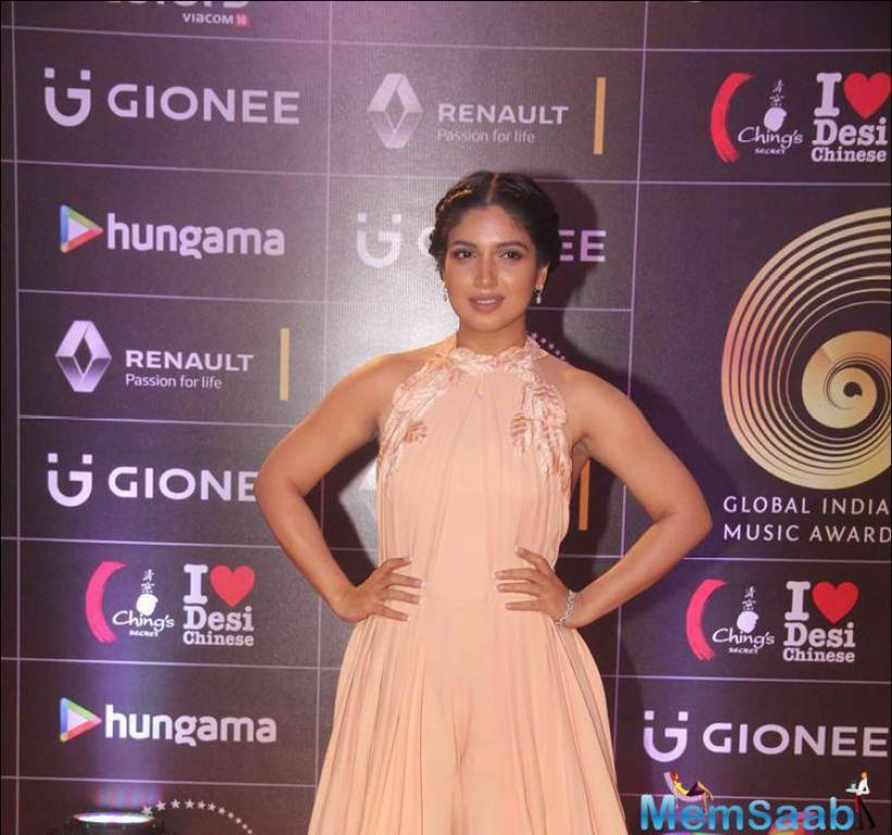 Bhumi Pednekar has always done to catch the spotlight. She looked pretty in a Manish Malhotra outfit on the daytime