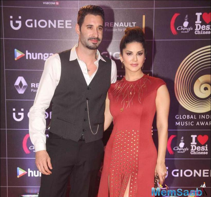 Sunny was accompanied by her husband Daniel Weber.Sunny Leone will be soon seen sharing screen space with SRK for a special song in Raees