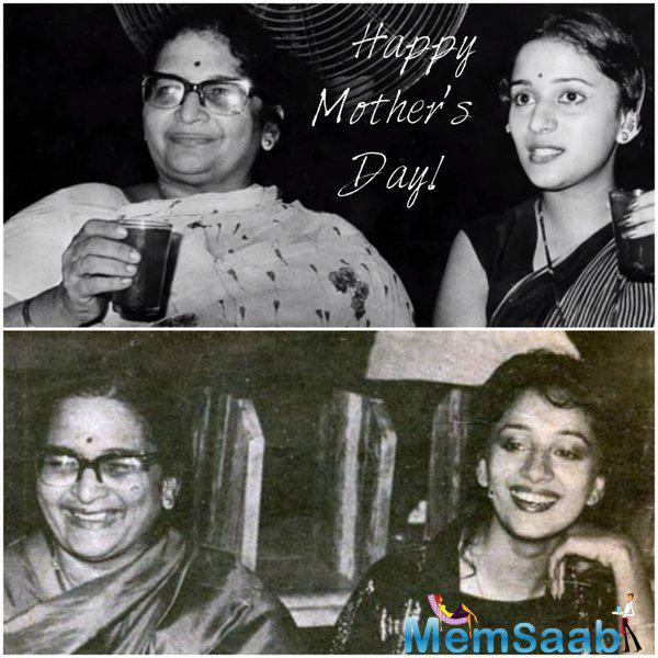 Madhuri Dixit Nene share a pic and said 'My mom, my inspiration! Love you Mom'
