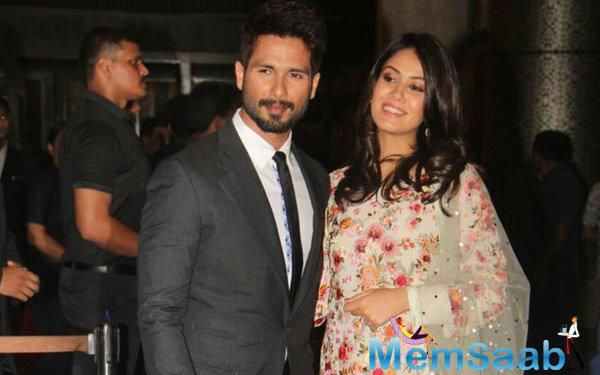 Shahid Kapoor and Mira Rajput at Preity Zinta-Gene Goodenough wedding reception