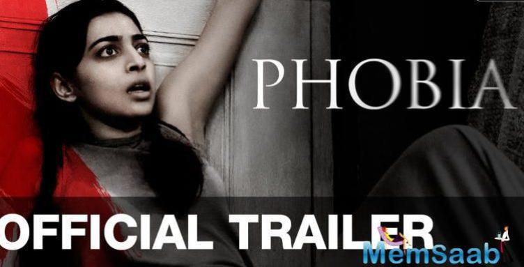 Film critic Taran Adarsh took to Twitter to unveil the poster with a caption, New poster of #Phobia. Releases May 27, 2016.