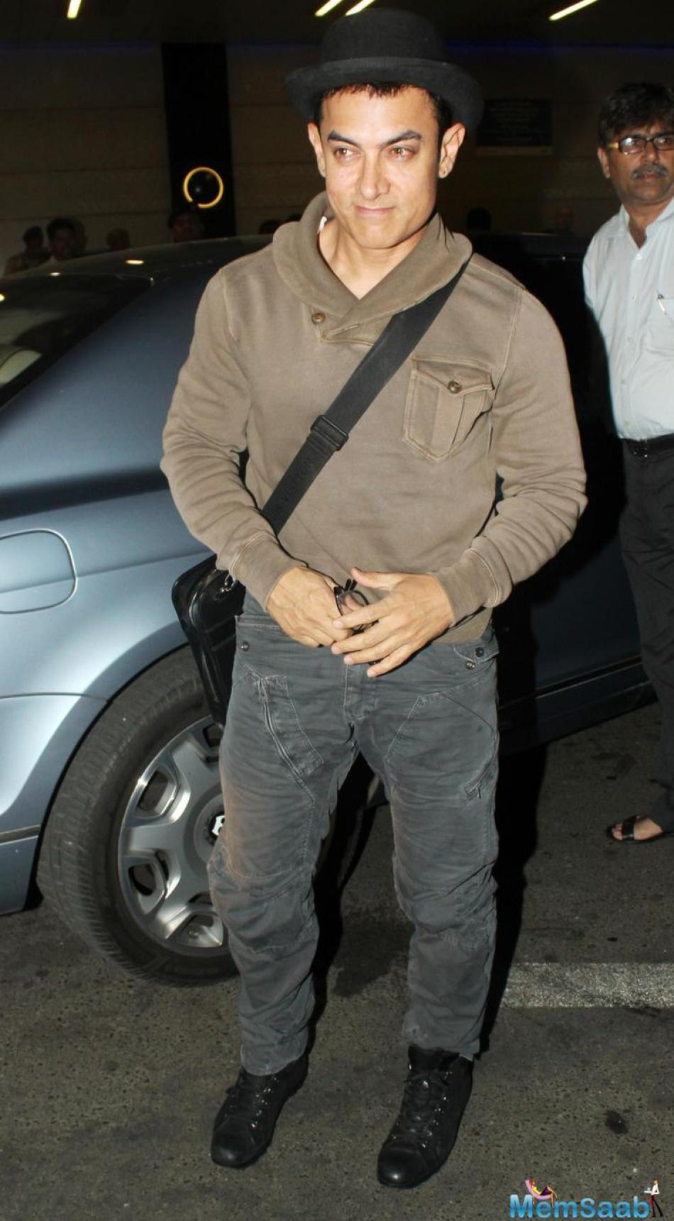 On Monday evening, Aamir attended the launch of the MAMI Film Club, While discussing about  a film directed by him, he supposed if he directs a film, he would not work on it.