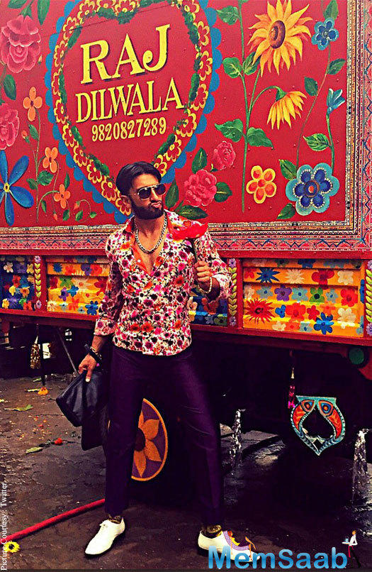 """Another introduces the Ranveer Singh as """"Raj Dilwala."""" The ad was apparently of Make My Trip. Ranveer and Alia, who are the brand ambassadors of the brand, both were spotted on the sets."""