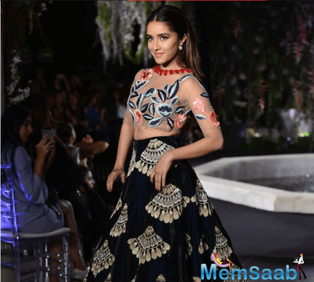 While taking to media Shraddha said that she had walked the ramp for Manish Malhotra four years ago and that turning showstopper for him was like her dream come true.