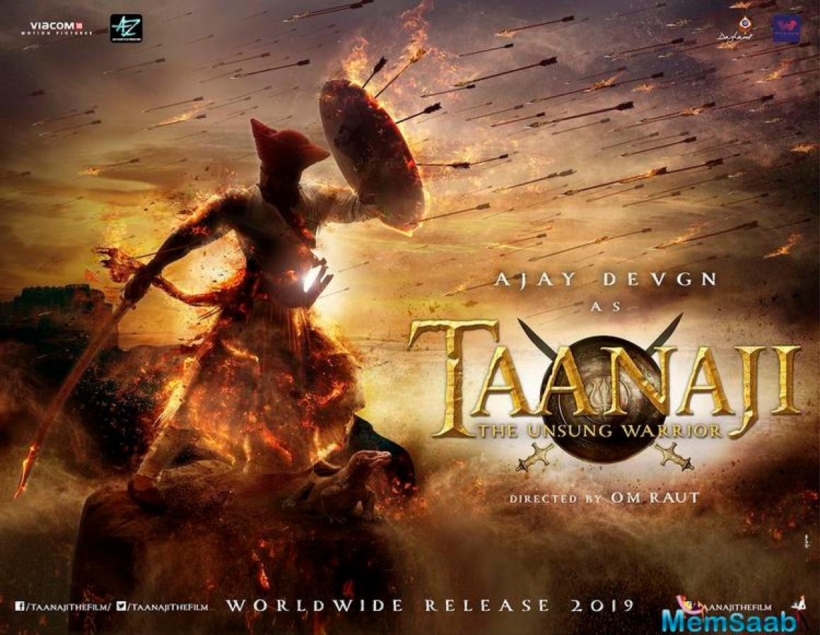 The 'Shivaay' star took to Twitter to announce his upcoming film, 'Taanaji - The Unsung Warrior' and even shared the first look poster of his movie.