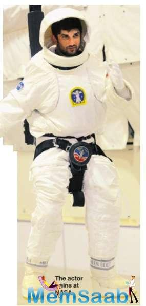 Now, he is back in town after training at the NASA facility.