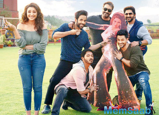 The motion poster of Bollywood actor Ajay Devgn's 'Golmaal Again' is out and the gang is back to flirt with you!