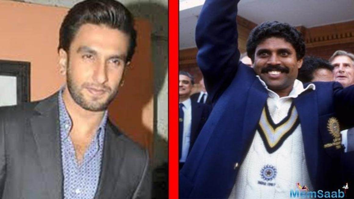 Ranveer Singh is the latest player to link up the sports movie club. The Padmavati star will soon be seen as Kapil Dev in a film based on India's victory in the 1983 Cricket World Cup.