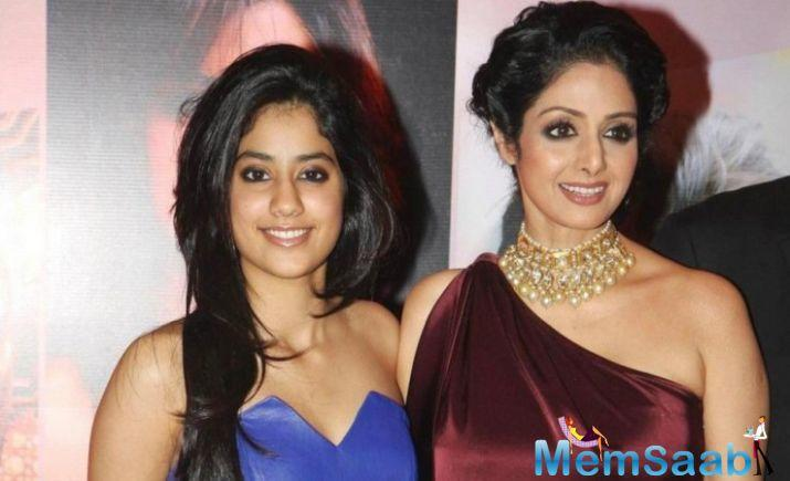 Sridevi is a strict mother. The paparazzi also found that out backstage, at a fashion show held in Mumbai recently.