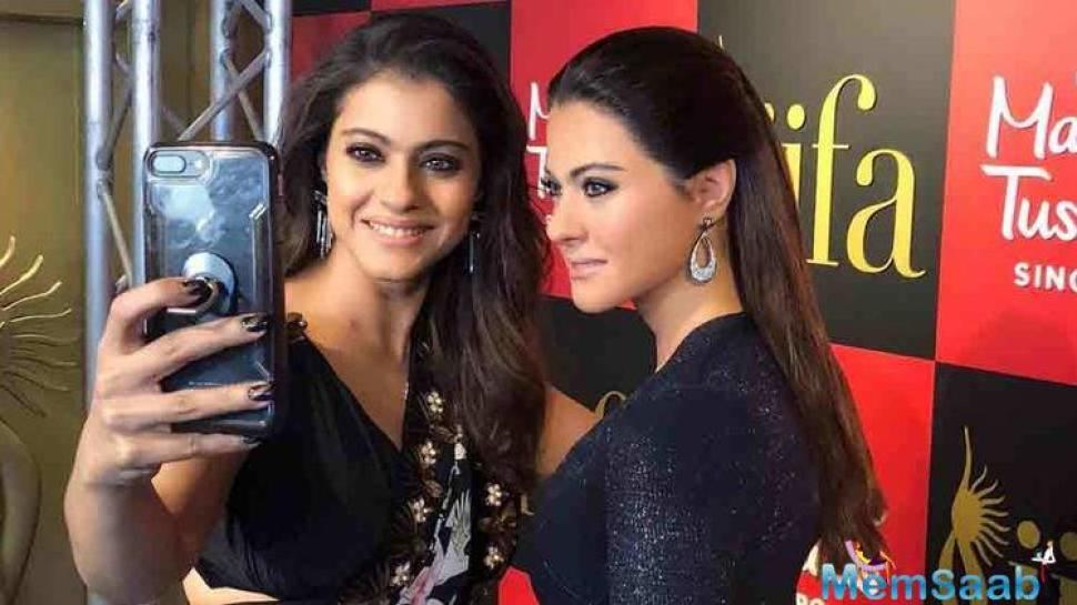Kajol walked on the red carpet with her daughter Nysa for the first time to unveil her wax statue at Madame Tussauds attraction in Singapore. Kajol unveiled the statue on Thursday.