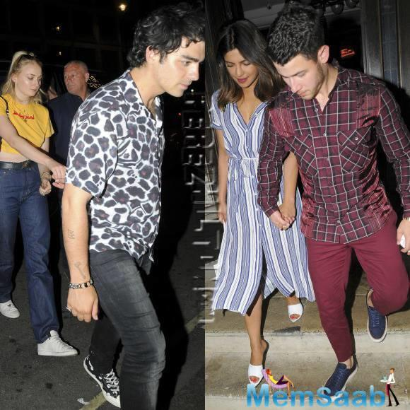 The Jonas Brothers - Nick and Joe - went for a double date with Priyanka Chopra and Sophie Turner.