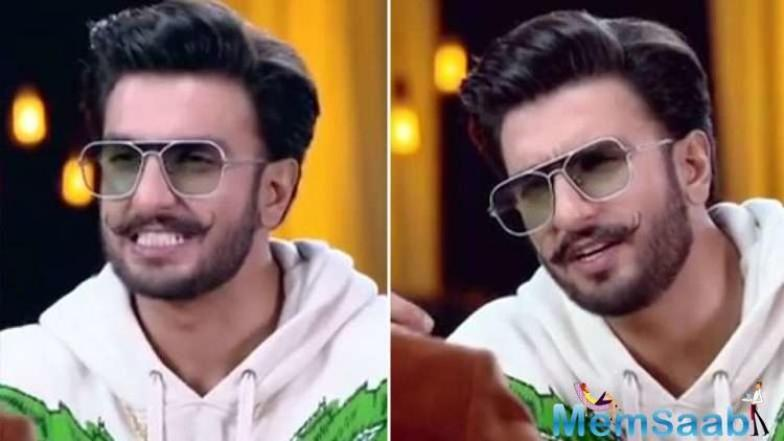 And from the recent promo of Famously Filmfare season 2, we can safely conclude that Ranveer cannot get over his wife DP.