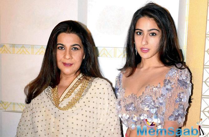 Her daughter Sara Ali Khan made her Bollywood debut with Kedarnath opposite Sushant Singh Rajput.