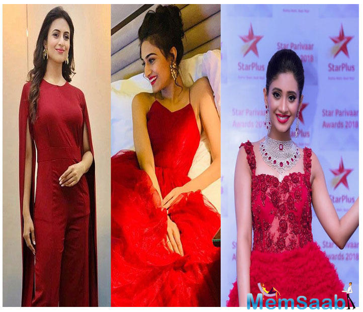 A few days back, we conducted a poll when we saw three of our TV beauties dressed in red.