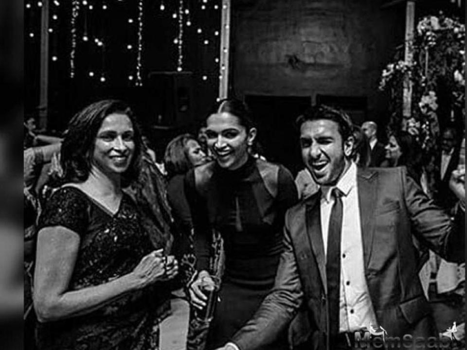 In one of the several viral unseen images, Deepika can be seen giving a bridesmaid speech on the occasion. She looks gorgeous in a black dress with her hair tied in a neat bun, completing her look with smokey eyes.