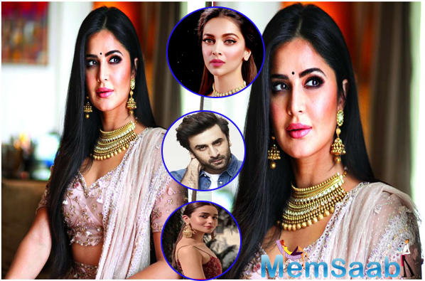 In an interview with DNA, Katrina Kaif was asked about her equation with Alia Bhatt, Deepika Padukone and Ranbir Kapoor and how she was seen exchanging pleasantries with the trio at the Filmfare Awards 2019.