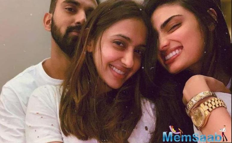 But a picture of the two with buddy Akansha Ranjan Kapoor is doing the rounds.
