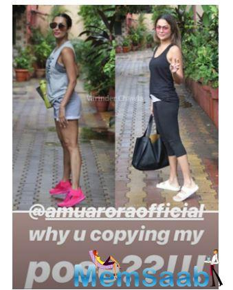 Well, Malaika often goes through her pictures clicked by the shutterbugs and scrolls through them on Instagram.