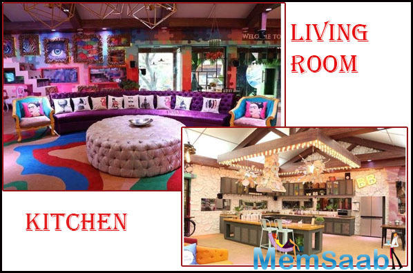 Exotic living room junction, From dangling legs to colorful background the bedroom and the living room looks erotic, splendid and quirky.