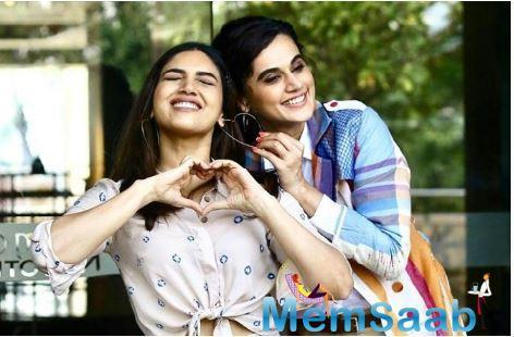 In the film, Tapsee and Bhumi are playing Prakashi and Chandro Tomar, women who are double their age.