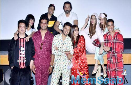 The comedy of errors stars Akshay Kumar, Riteish Deshmukh, Bobby Deol, Kriti Sanon, Pooja Hegde, and Kriti Kharbanda in double roles as the story revolves around reincarnation.