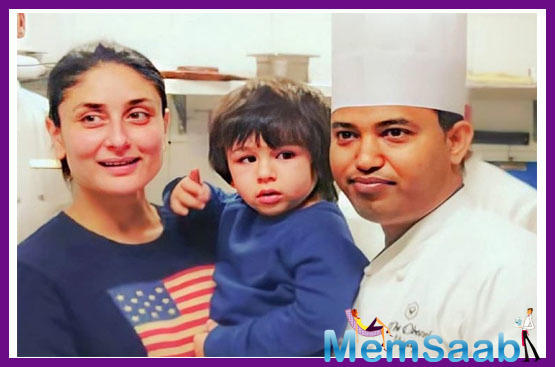 Taking some time out from work, Bebo recently took son Taimur Ali Khan along with her to attend popular chef Vijay Chauhan's workshop.