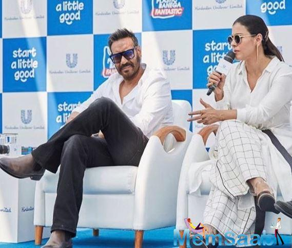 The actress has also recollected how she met actor Ajay Devgn on the set of a film and how they fell for each other.