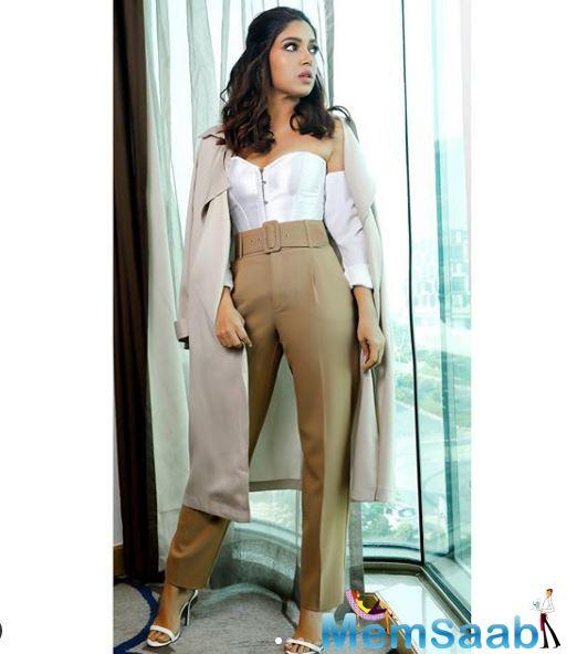 Bhumi Pednekar says she is glad that she is working in times where similar opportunities have opened up for both male and female actors. The actress hopes that it spills over into society.