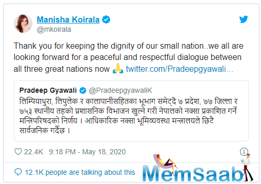 Nepal's foreign affairs minister Pradeep Gyawali took to social media to share the news about the additions.