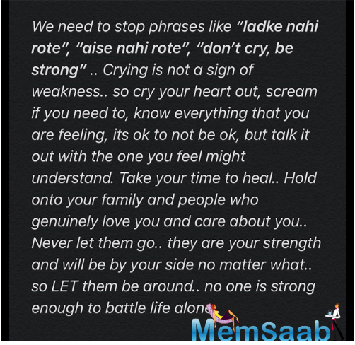 Kriti Sanon ended her post with another underlining message, asking everyone to stop using phrases like
