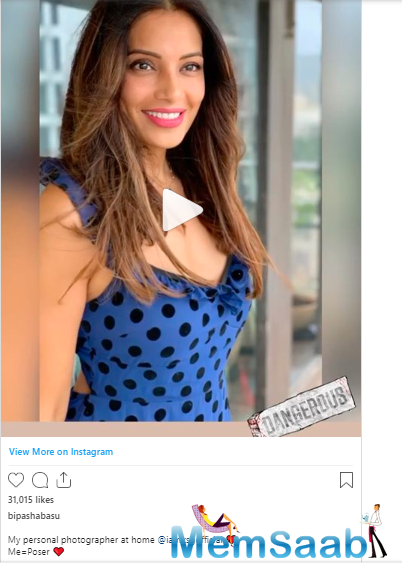 Bipasha Basu has a personal photographer at home. No prizes for guessing, it is her hubby Karan Singh Grover.