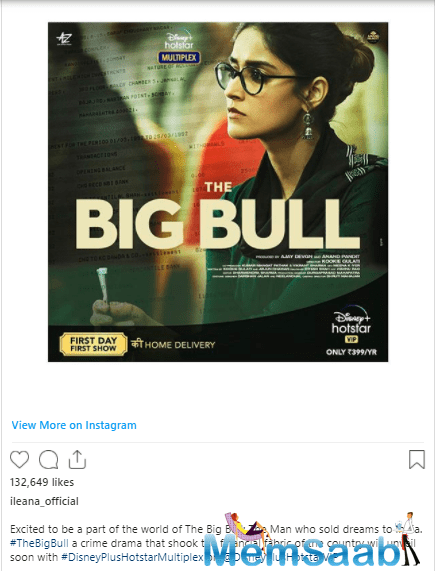 And taking to her Instagram account, Cruz shared her first look from the film and indeed looked impressive.