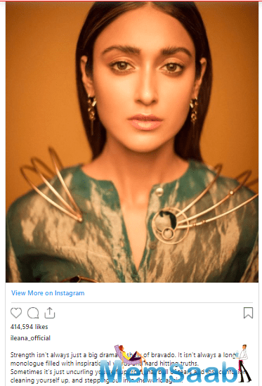 In the last few days of 2020, Ileana penned a powerful post.