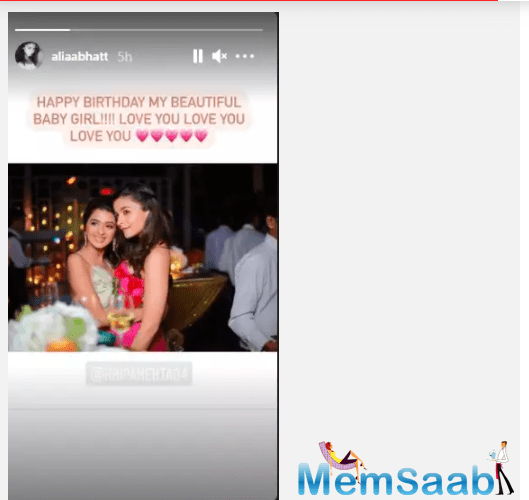 The actress shared a candid photo with the birthday girl.