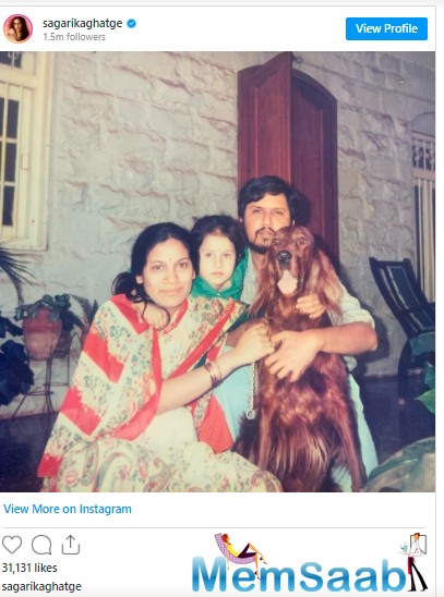 Sagarika, who is married to cricketer Zaheer Khan, often shares family pictures on her Instagram handle.