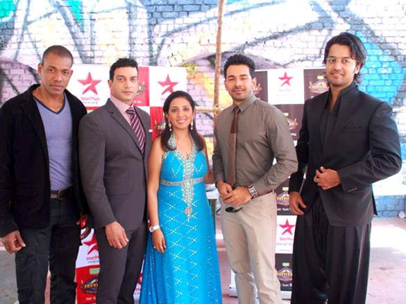 Abhinav Shukla,Munisha Khatwani at Promotional Event of Survivor Show