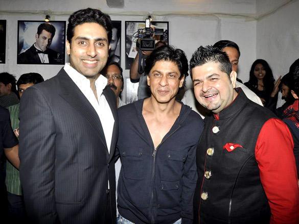 Abhishek and SRK at Daboo Ratnani's 2012 Calendar Launch