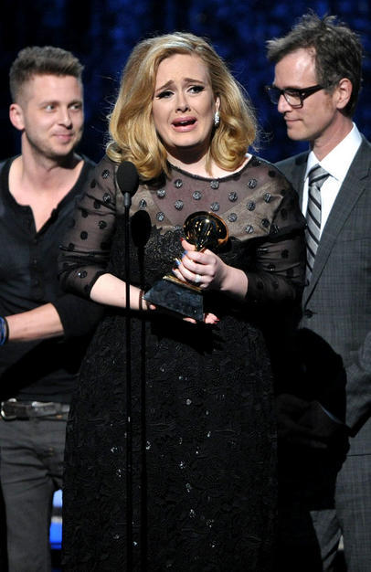 Adele at 54th annual Grammy Awards