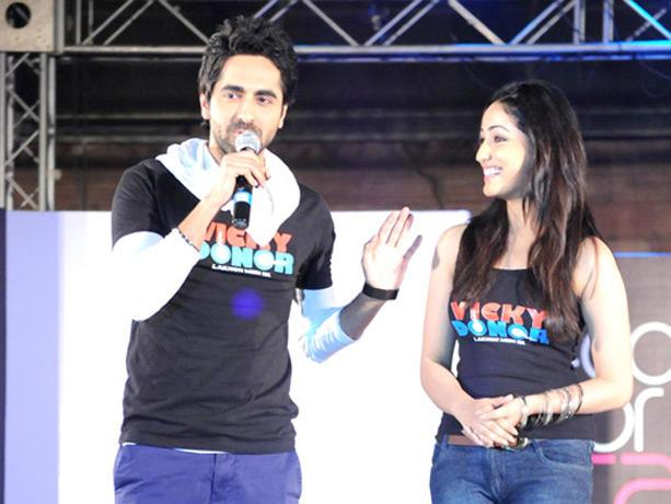 Ayushmann and Yami Gautam at Couture for Cause Fashion Show in ITC Maratha