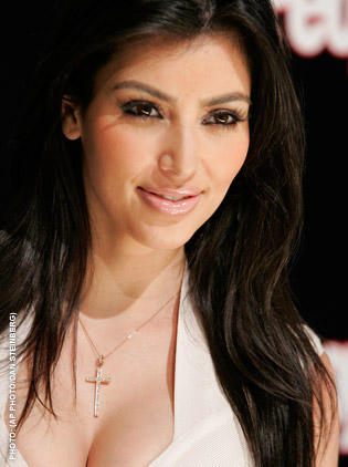 Beautiful Kim Kardashian Sweet Smile Pic