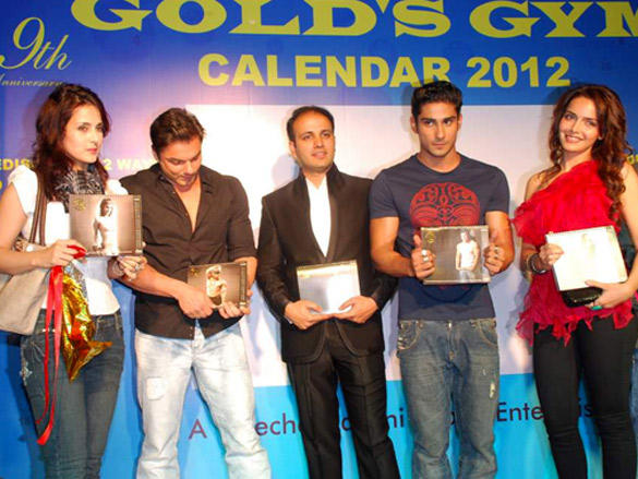 Celebs at Launch of Gold Gym Calendar  2012
