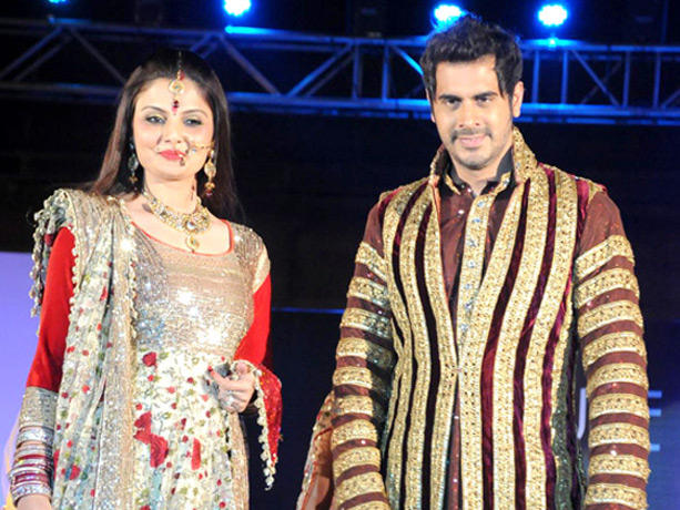 Deepshikha and Kaishav Arora at Couture for Cause Fashion Show in ITC Maratha