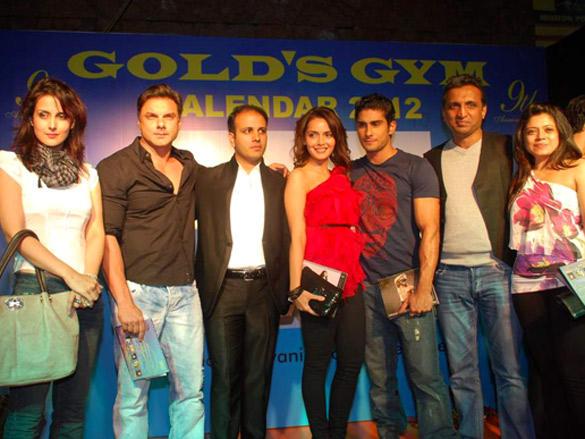 Gold Gym Calendar launch 2012